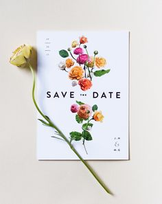 Inspiration: Floral Wedding Stationery / See full post on The LANE