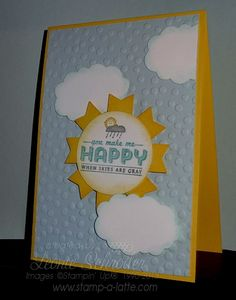 Monday Makes … with Banners Stampin' Up! Banner Punch not just for the stamps! Create your own sweet sunny card for friends and family and make their day #stampinup #bannerpunch #saleabration2014