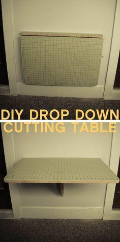 Grosgrain: DIY Drop Down Cutting Table