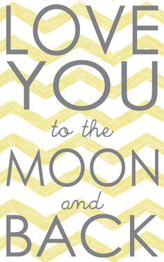 Nursery Print, Love you to the moon, Nursery Home Decor, Nursery Art, art print on wood by Jennifer McCully. $16.00, via Etsy. decor, nurseri print, moon nurseri, nurseri art, nurseries, nursery art, art prints, homes, nurseri idea