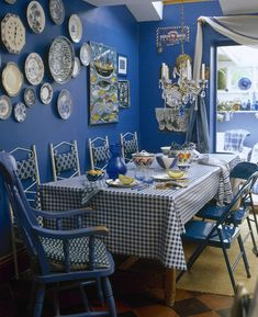 Blue Country Dining Room