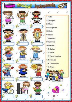 musical instruments, music worksheet, music instrument, instrument worksheet