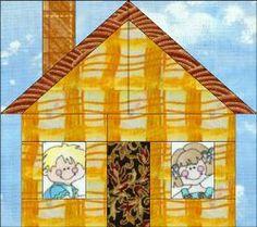 Home Sweet Home Paper Pieced #Quilt Block by Annie Unrein from ByAnnie.com