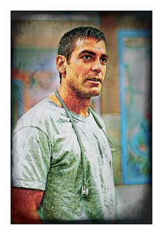 George Clooney from TV Show ER: Art That Makes Your Brain Happy!