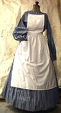 Civil War Girls Clothing | Camp Dress (2 piece matching blouse and skirt set)