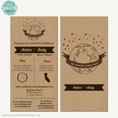 kraft style, weddings, creativ stationari, blue green, round kraft, wedding invitations, design idea