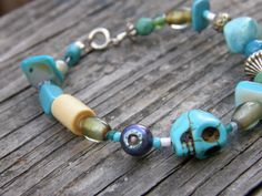 Blue and  Blue and Blue Bracelet by SavannahVoodoo on Etsy, $6.00