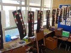 Kindergarten Christmas craft - ABC Pattern Candycanes