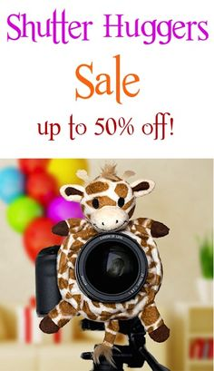 Shutter Huggers Sale: up to 50% off! {Perfect idea for kid photography and taking photos of little ones!}