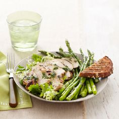 This mint chicken is easy to make on a busy weeknight. #protein #vegetables #myplate