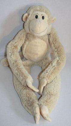 "Animal Alley Monkey tan cream plush stuffed animal Velcro Long legs arm soft 24"""