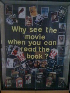 Movie vs Book Bulletin Board Idea