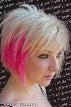 #short hair #pink hair