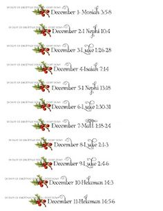 Christmas Scripture Advent Calendar and Printables