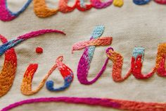 detail embroidery