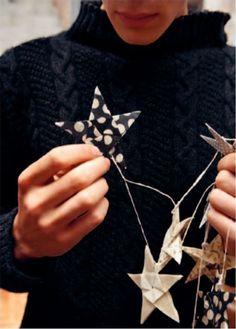 DIY Star Garland (Toast UK Christmas 2011 Catalog)