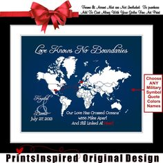 military wife quote long distance gifts personalized ideas, $24.99
