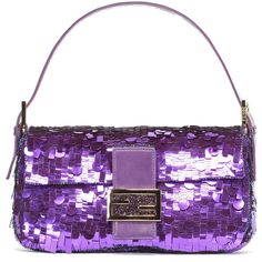Metallic Purple Fendi Baguette