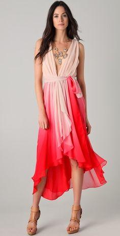 #layered silk chiffon #dress