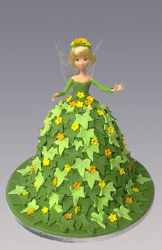 Tinkerbell Doll Cake Design : Tinkerbell Cupcakes and Party Ideias on Pinterest ...