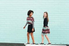 Mod mixes with ethnic African Print - tween Clothing