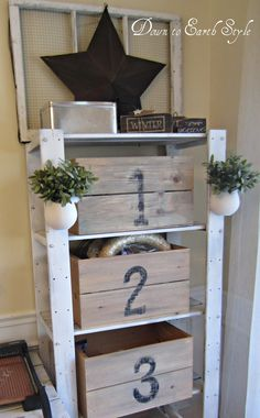 Down to Earth Style: shelf with crates