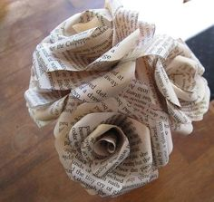 Simple Decorative Newspapers Paper Roses