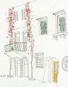 watercolor illustrations by Nina Moscrip