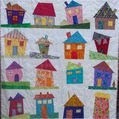 Wonky house quilt blocks