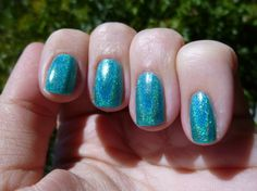 Lets Dance Turquoise Holographic Nail Polish - 15ml Full Size Bottle  doesn't ship to UK turquois holograph, danc mini, nail polish, mini bottl, lets dance, holograph nail, size bottl, nails, danc turquois