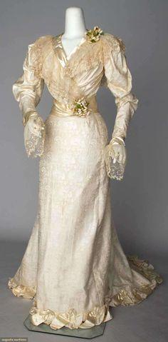 silk wedding gown, phila., 1890s