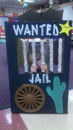 Cowboy VBS Ideas | made this BOOK NOOK for my western theme classroom. KINDERWORLD w ...