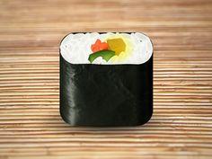 Sushi Icon by Konstantin Datz