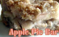 apple pie bars, appl pie, apple pies