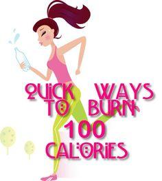 Quick Ways to Burn 100 Calories