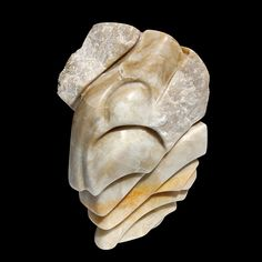 Strength #White and #Gold #Alabaster #sculpture #canyonroad