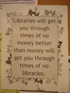 Couldn't have said it better ourselves... #librarylove
