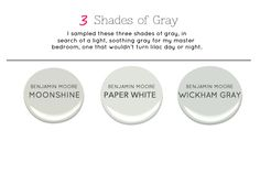 Master Bedroom Paint color, gray paint color, Benjamin Moore, Wickham Gray