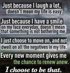 I like this just because and I choose to be that. :)