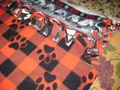 No Sew Fleece Blanket!