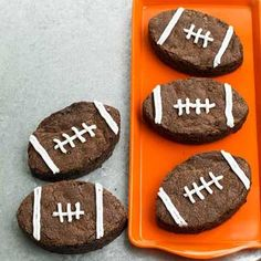 Game-Day Recipes | BHG.com bowl, brownie recipes, father day, dessert ideas, football parties, game, cookie cutters, football foods, footbal browni