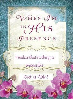 Nothing Is Impossible With God...