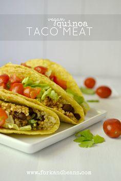"""Quinoa Taco """"Meat"""""""