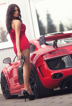 R8 -Red☆JGExquisite TUMBLR red dress, short dress, gun girls, dress suitabl