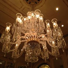 The Plaza Hotel. Chandelier :)