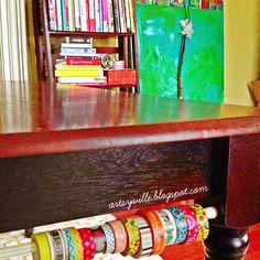 Use a tension rod to store washi tape