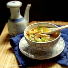 Hot and Sour Soup with Bok Choy