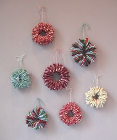 Felted sweater ornaments