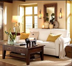 Living room  Pottery Barn