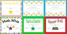 Free Printable Awards